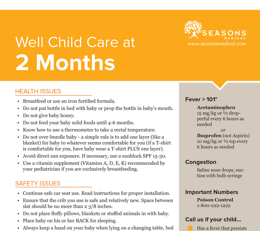 Well Child Care at 2 Months